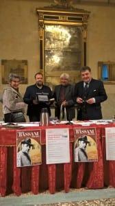 da sinistra, Alessandra Mottola Molfino, Nicola Ballario, Andrea Malacarne e Marco Parini