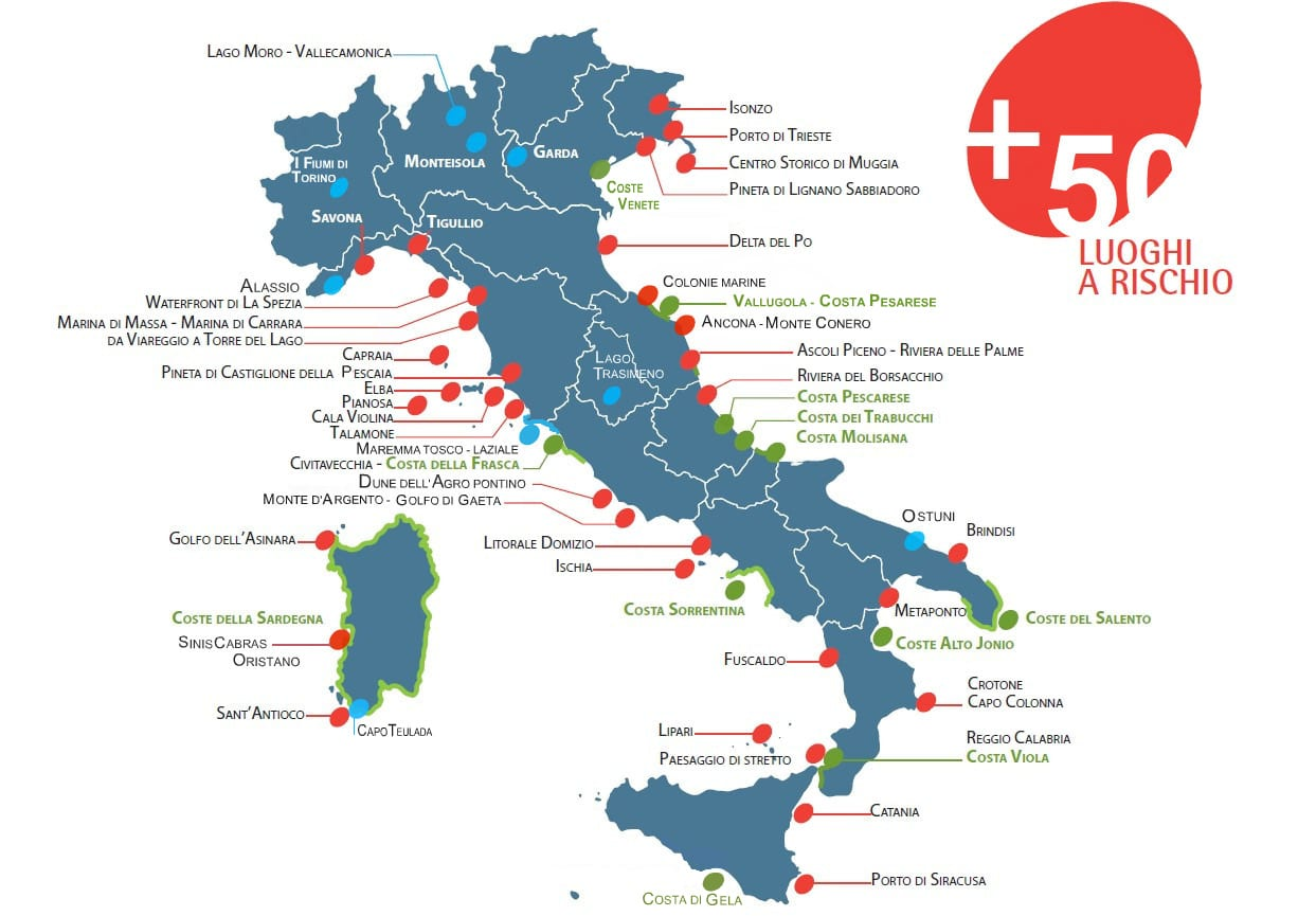 Cartina Italia Posti Di Mare.Paesaggi Di Costa 2010 Italia Nostra Italia Nostra